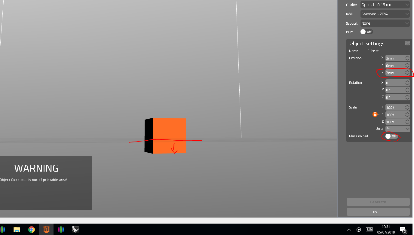 Slic3r/Prusa Control Z model offset