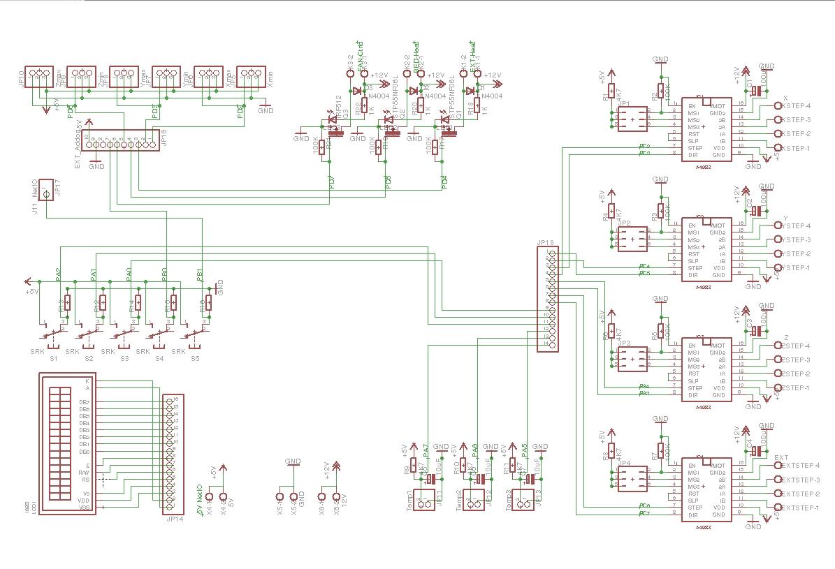 Pollin AVR NET-IO als Motherboard für Repmaschinen