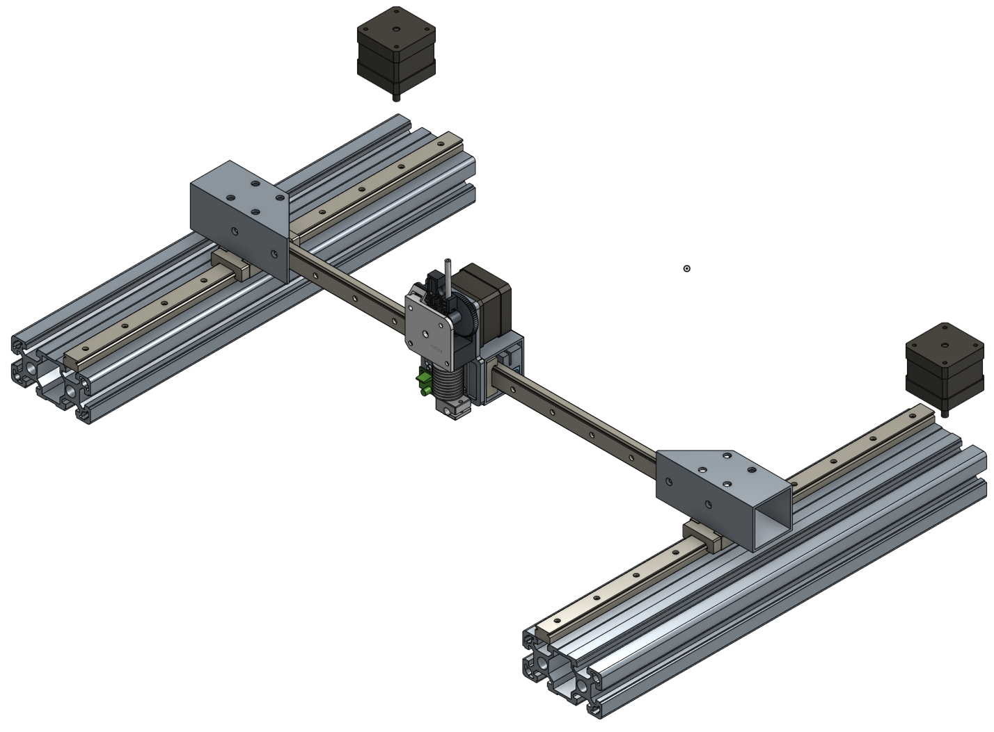 New CoreXY Design - Mounting Linear Guide Rail on Aluminium Extrusion