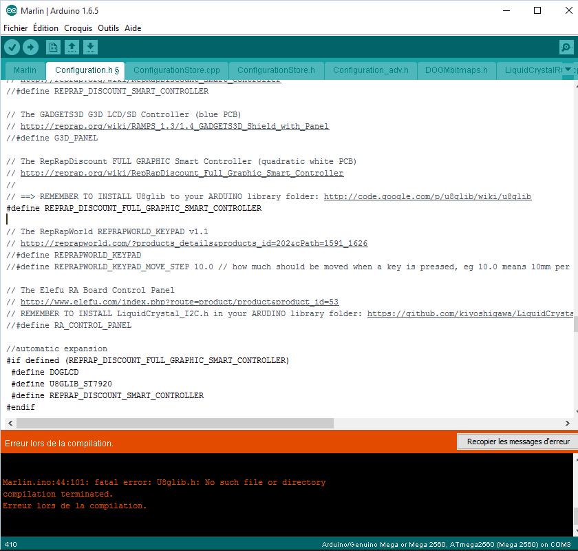 make a 12864 LCD board run
