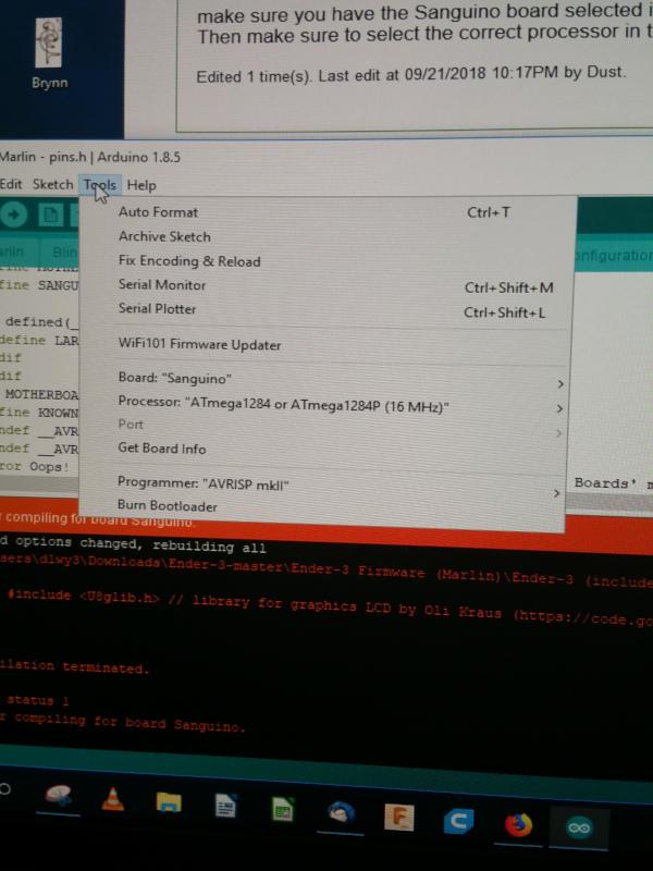 Ender 3 firmware flash problem