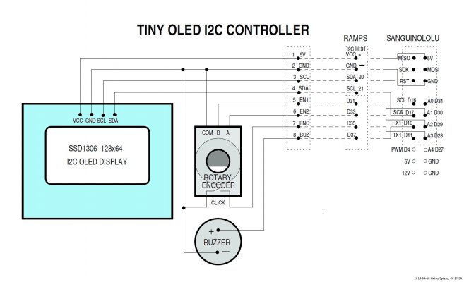 DIY Tiny OLED I2C full graphics controller