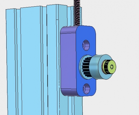 Delta pulley and idler dimensions question