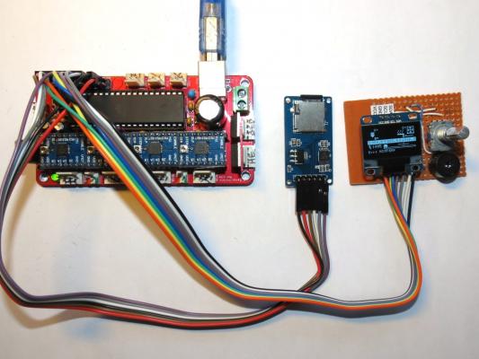 DIY Tiny OLED I2C full graphics controller