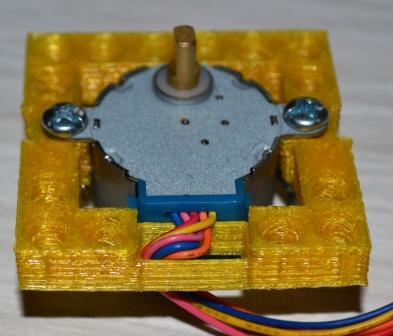 RepBrick holder for 28BYJ48 stepper motor with motor.JPG