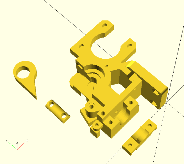 Ch1t0's design, STLs imported in OpenSCAD.