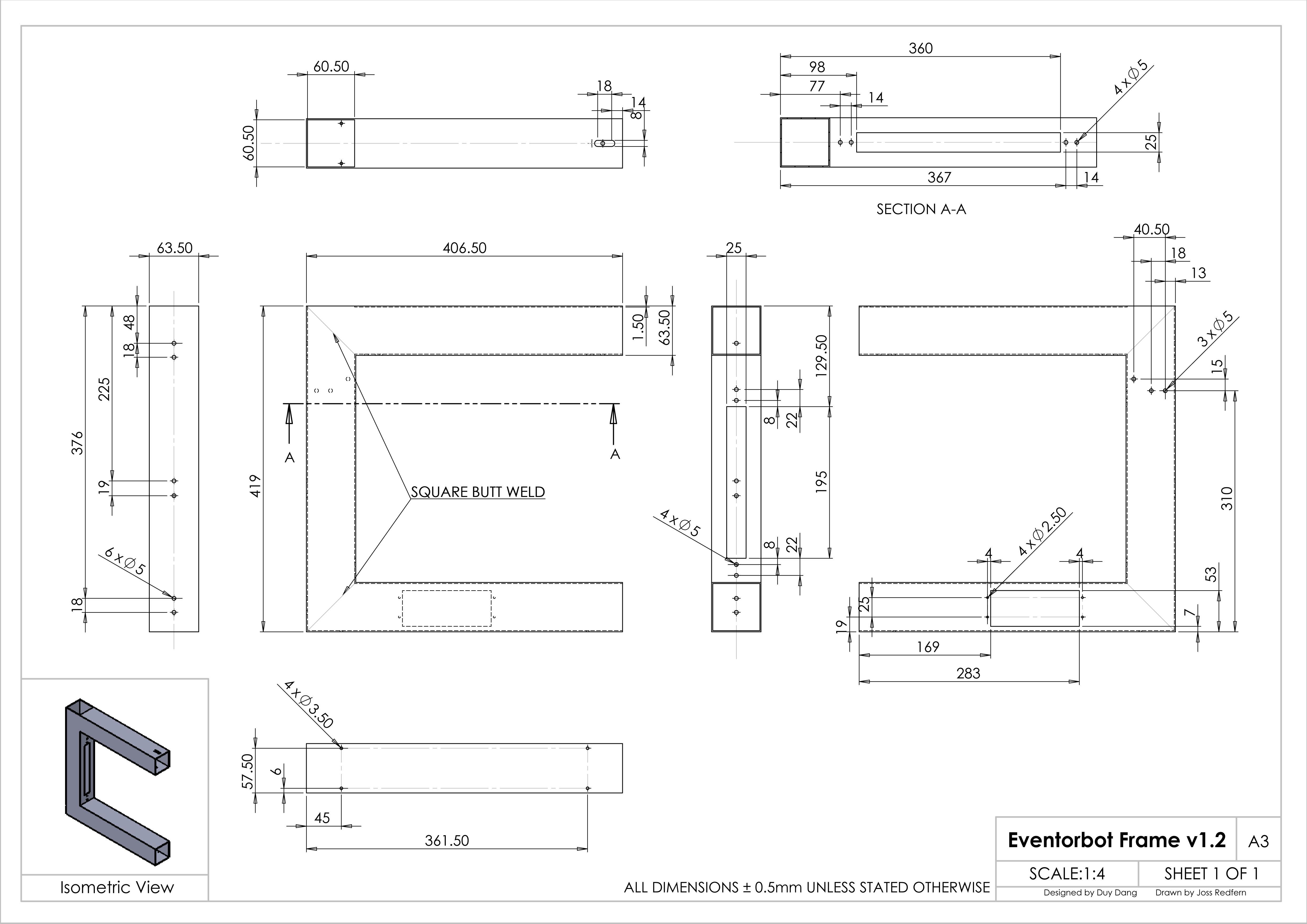 Eventor 3d printer redesign manufacturinget 1 4 long 2 12 metal square tube baditri Image collections