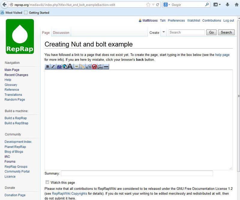 Wiki tutorial - RepRap