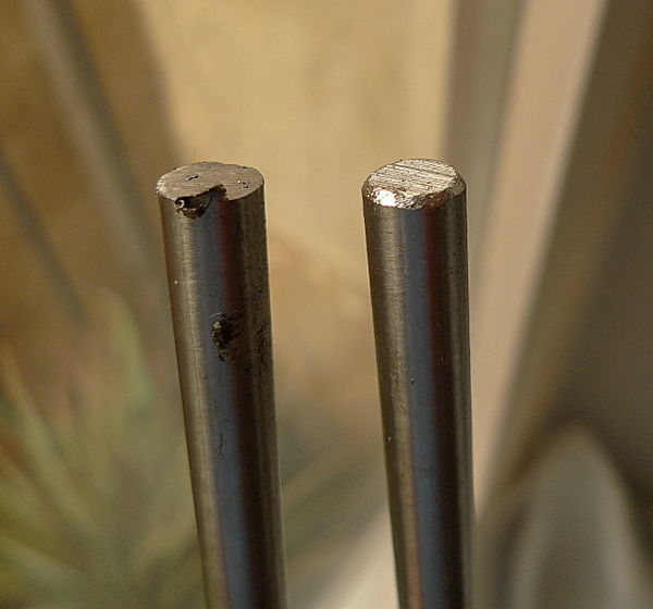 Smooth rods (8mm stainless steel), unfinished and finished.