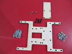 Photo of the parts used to Assemble the Y axis