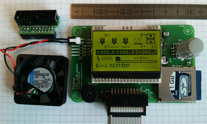 STB RepRap Graphic LCD Controller with Fan Output - RepRap
