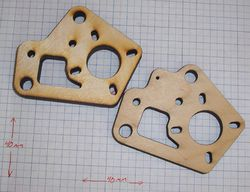 Pieces used to make the Y Axis Motor Mounts.