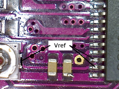 Location to measure Vref on the Made in China DRV8825 board