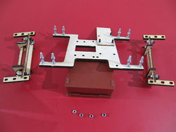 Photo of a frog plate and assembled Y 180 and Y 360