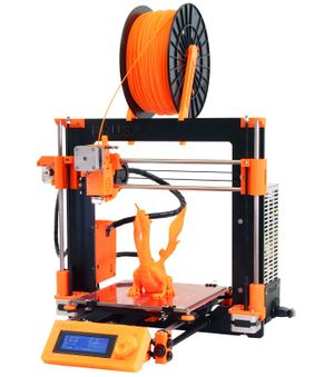 Prusa i3 with a single metal sheet style frame.