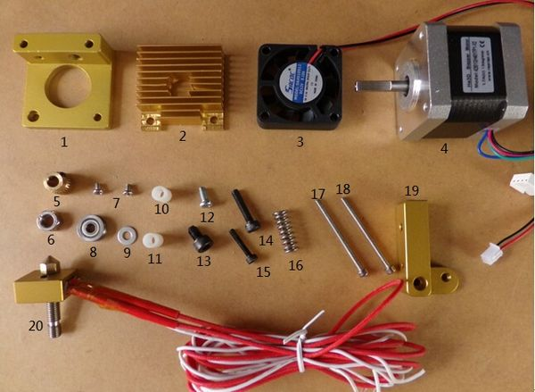 Extruder assembly - RepRap