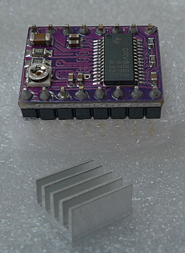 DRV8825-based inexpensive stepper driver board.