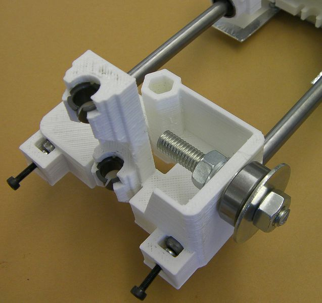 File:Reprappro-mendel-x-axis-idler-fitted.jpg