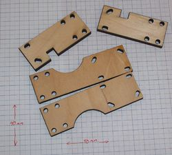 pieces that make the X Bar Clamps.