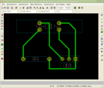 A gerber file in Kicad
