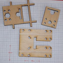 Pieces used to make the X Axis 180 plate.